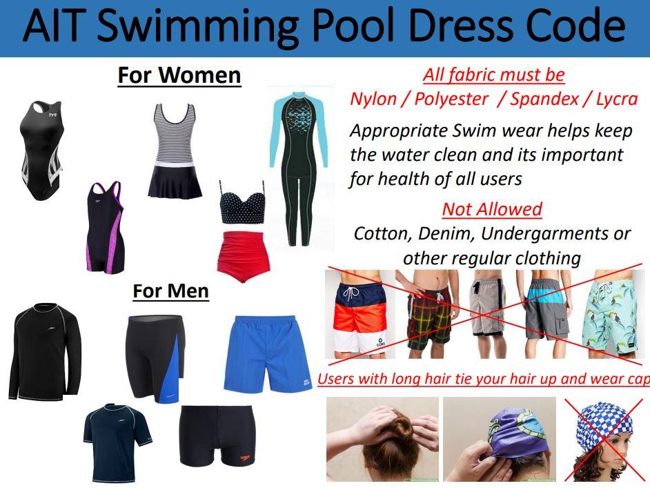 swimming pool dress code