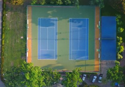 Tennis court at Library