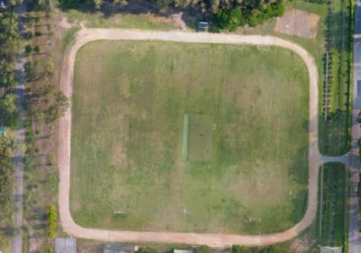 Football/Cricket field with a running track