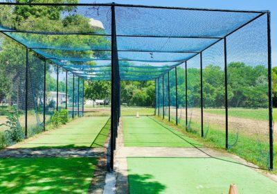 Cricket net practice court